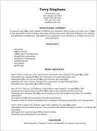 professional legal billing clerk resume templates to showcase your