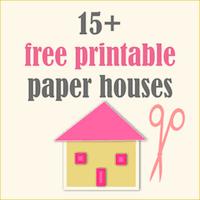 printable model house template 17 free printable diy paper houses free lantern houses