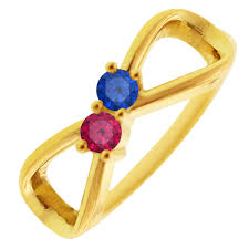 mothers rings pictures images 2 stone infinity mothers ring in 10kt yellow gold jpg