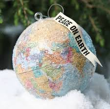 foster peace on earth globe ornament vintage shops peace and