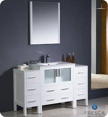 fresca torino single 54 inch modern bathroom vanity white with