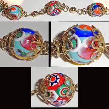 murano beads bracelet images Hand made italian venetian murano millefiori art glass bead jpg