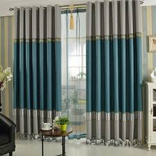 Gray And Teal Curtains Striped Curtains Horizontal Striped Curtains Panels