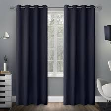 Blue And Grey Curtains Buy Blue Curtain Panels From Bed Bath U0026 Beyond