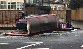 huddersfield car crash dies after moldgreen bus stop