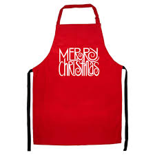 merry christmas apron cooking xmas dinner gift mum grandma present