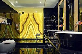 bathroom 2017 black gold brick wall with gold style for