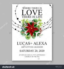 Wedding Invitation Card Template Wedding Invitation Card Template With Winter Bridal Bouquet Wreath
