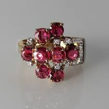buckle ring ruby diamond ring ruby diamond band 1940s ring