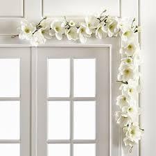 white garland indoor garland crate and barrel