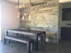 reclaimed wood accent wall wood from recwood planks in custom wall panel and bar made completely out of reclaimed wood