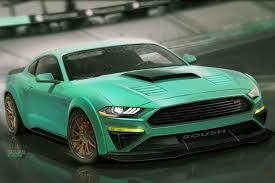 widebody mustang ford bringing seven 2018 mustang show cars to sema rk motors