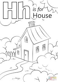 coloring pages houses letter h is for house coloring page free printable coloring pages