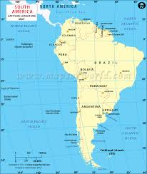 south america map equator south america latitude and longitude