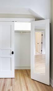 bi fold to faux shiplap french closet doors ship lap doors and