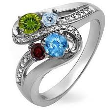 family ring s birthstone and diamond accent bypass split shank ring 4