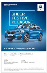bmw finance services bmw financial services sheer festive pleasure ad advert gallery