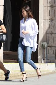 selena gomez casual gomez in casual attire out for lunch in los angeles 3 8 2017