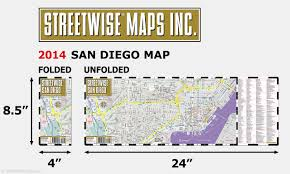 San Diego International Airport Map by Streetwise San Diego Map Laminated City Center Street Map Of San