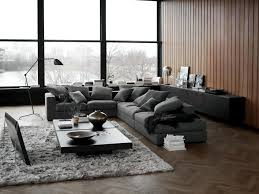 dark gray sofa in the living room interior design ideas ofdesign