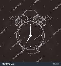 Old Fashioned Alarm Clocks Old Fashioned Alarm Clock Hand Drawn Stock Vector 446918818