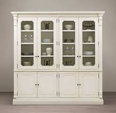 restoration hardware china cabinet st james wide glass sideboard hutch home office library