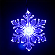 outdoor snowflake ornament design 1 size 6 blue white
