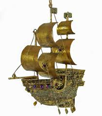 katherine s collection guilded ship ornament briarwood