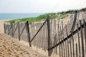 cape cod beach landscape with wood fence stock photo picture and