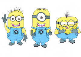 baby minions drawing