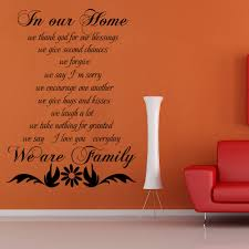 Living Room Quotes by Family Wall Quote In Our Home We Are Family Living Room Vinyl Wall