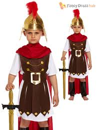 Roman Soldier Halloween Costume Boys Roman Soldier General Nativity Play Kids Fancy Dress Costume