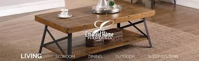 cocktail tables and end tables amazon com emerald home chandler rustic wood end table with solid