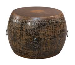 gold drum coffee table black drum side table sarreid ltd portal your source for the in drum