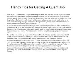 Resume For Analyst Job by Quantitative Analyst Skills