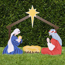 outdoor nativity set ebay