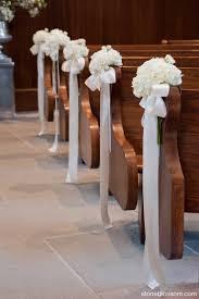 download church pew decorations for wedding wedding corners