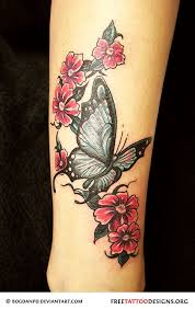 collection of 25 lovely butterflies roses vine tattoos on chest