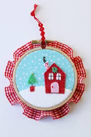 felt and fabric hoop ornaments i nap time