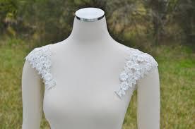 detachable wedding dress straps detachable illussion white tulle and lace straps cap sleeves