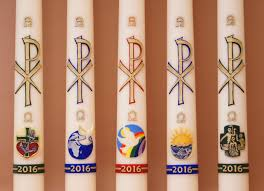 paschal candle designs 2016 medallions with different items