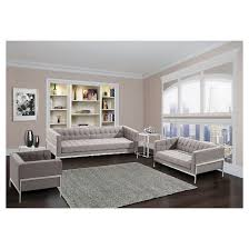 grey tweed sofa andre contemporary sofa in gray tweed and stainless steel armen