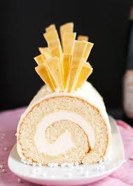 white chocolate cake recipe shard chagne cake roll with chagne buttercream ttc