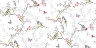 wallpaper with birds phoebe by albany white wallpaper direct