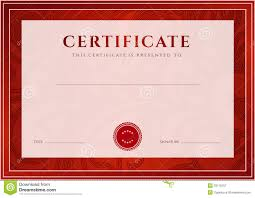 red certificate diploma template award pattern royalty free