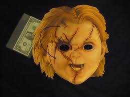 chucky mask seed of chucky promo mask mint unpunched with string