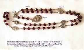 rosary of the seven sorrows chaplet of seven sorrows syte reitz
