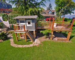 small backyard landscape design with playground ideas for children