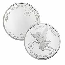 Tooth Fairy Gift 1 Oz Silver Round Tooth Fairy W Gift Box And Custom Engraving
