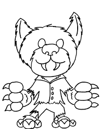 title halloween coloring pages werewolf coloring